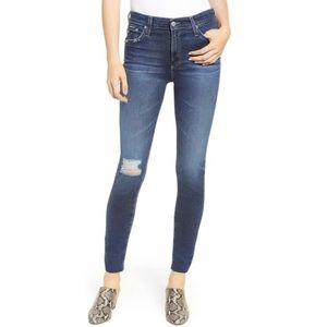 AG The Farrah Skinny Ankle Raw Hem Jeans!